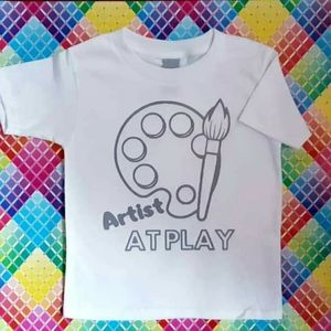 NWOT - Artist at Play Graphic TShirt